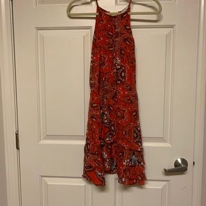 DESIGNER Parker 100% red silk mini dress PERFECT